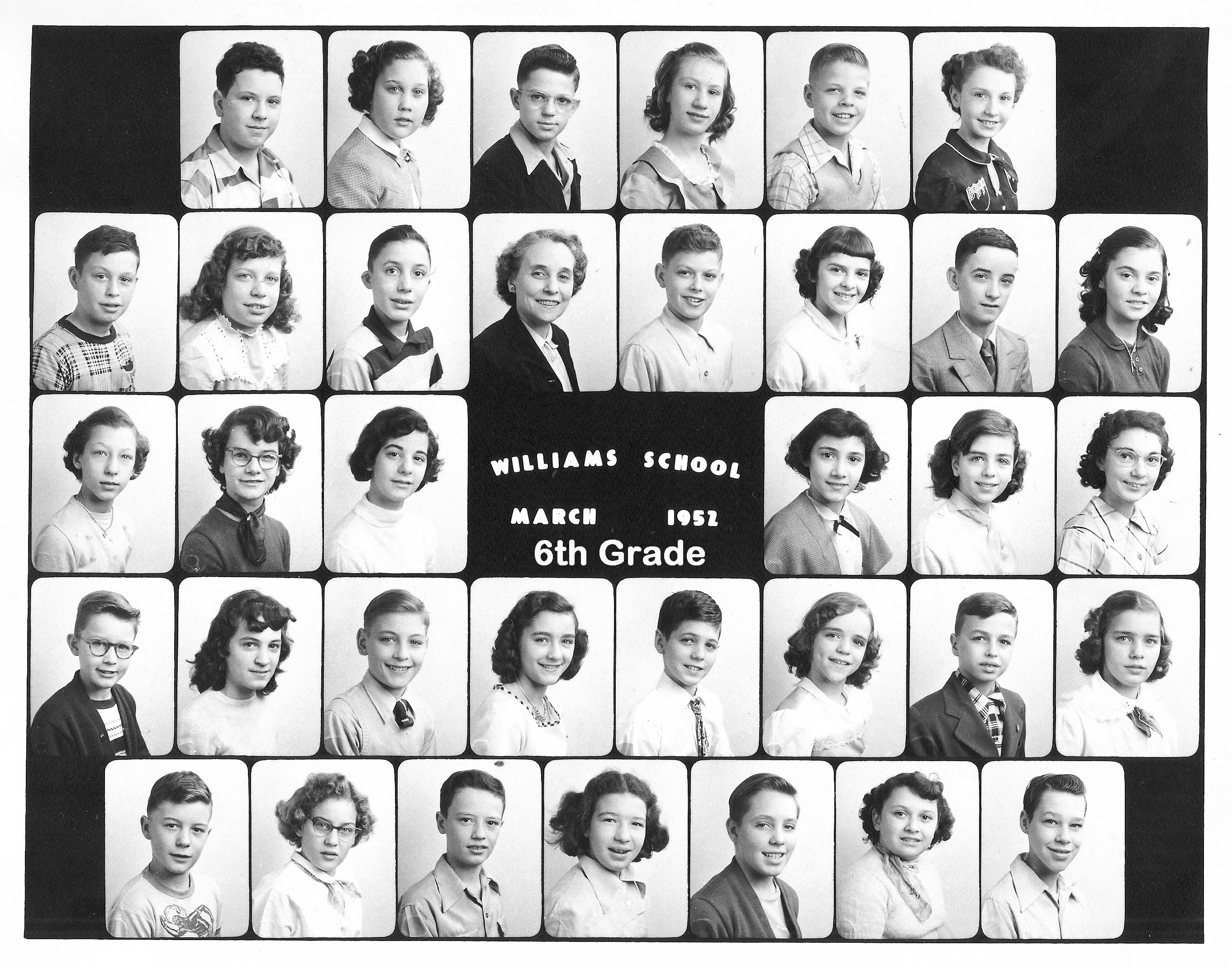 Williams 6th Grade 1952